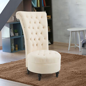 Armless Chairs For Living Room. Image is loading HOMCOM High Back Tufted Armless Chair Accent Retro  Living Room