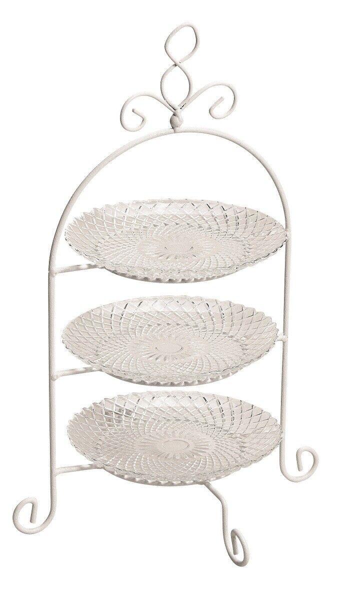 Weiß mit 3 Glastellern