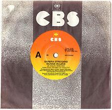 "BARBRA STREISAND - WOMAN IN LOVE / RUN WILD - 7"" 45 VINYL RECORD 1980"
