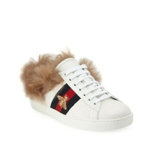 19f866925162 Image is loading Mens-Gucci-Ace-Sneaker-with-fur