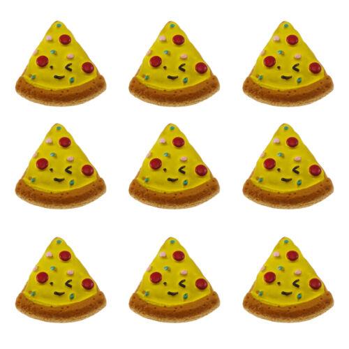 1 Pack Decorative Resin Pizza Cameo Cabochons Flatbacks DIY Crafts Accessories
