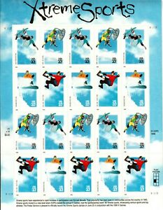 Scott-3321-24-Xtreme-Sports-Sheet-MNH-Free-shipping-in-USA