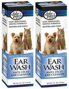 2-Pack-Four-Paws-Ear-Wash-Anti-Itch-Ear-Cleanser-For-Pets-4-oz-Per-Pack