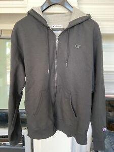 Champion-Athletic-Sweater-Hoodie-Black-Mens-Size-Large-EUC