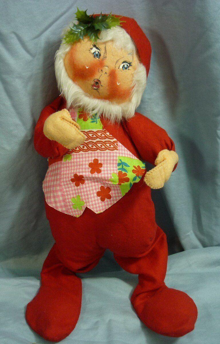 Annalee muñecas 18  Santa Ayudante GNOME 1973 Boca Abierta AL830
