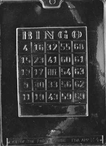 M004 Bingo Card Chocolate Candy Soap Mold with Instructions