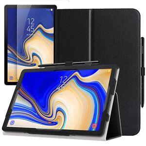 Para-Samsung-Galaxy-Tab-S4-10-5-T830-T835-Cubierta-de-Estuche-amp-Vidrio-Protector-de-pantalla