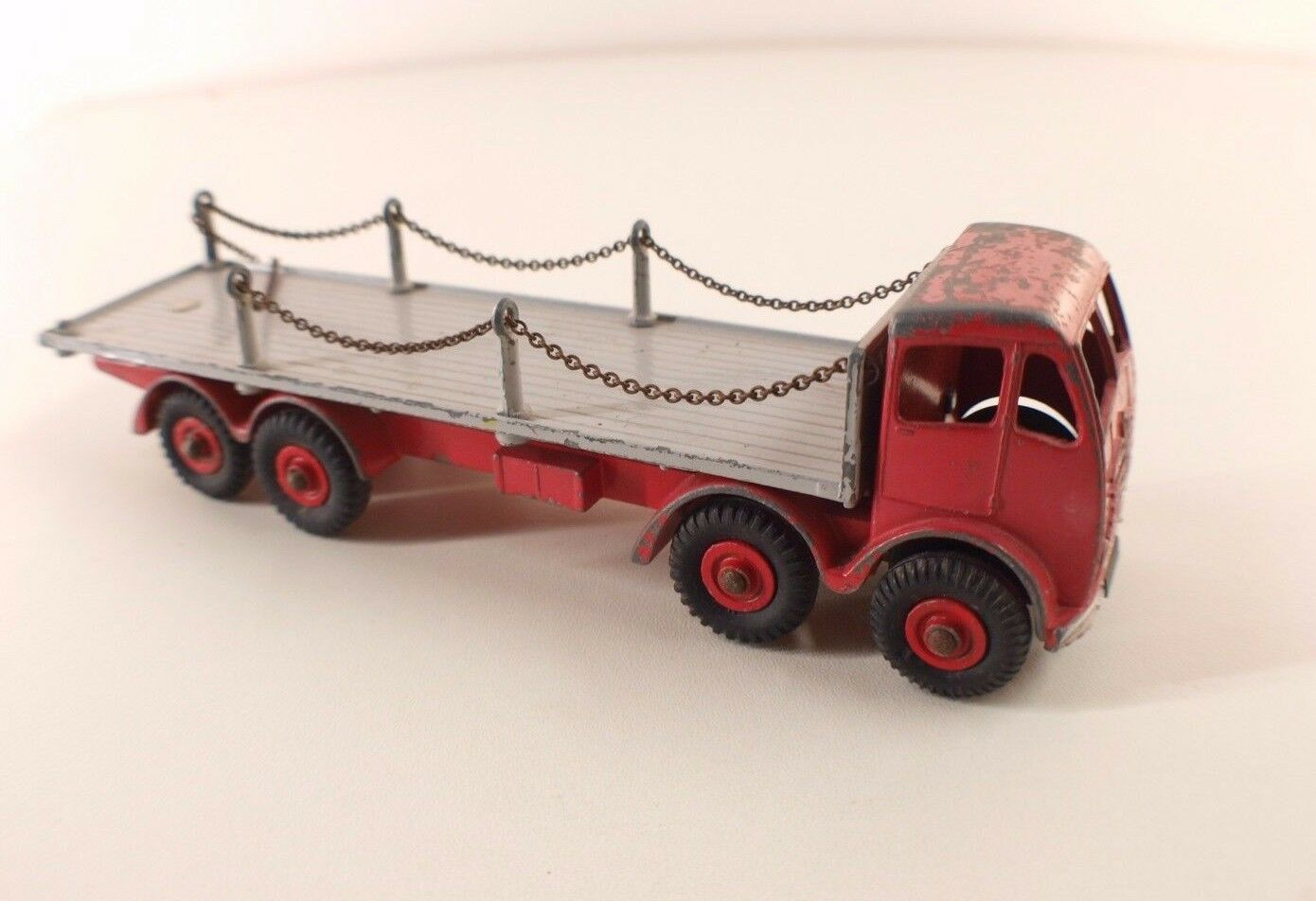 Dinky Spielzeugs GB n° 905 FODEN flat truck camion plateau à chaînes RARE