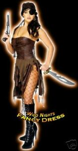SALE-FANCY-DRESS-COSTUME-LADIES-SEXY-FEVER-PIRATE-WITH-SIDESPLIT-8-12