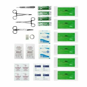 Advanced Surgical Suture Kit, First Aid Medical Travel Trauma Pack, 28 Pieces