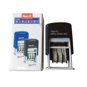 Image Is Loading Mini Date Stamp Self Inking Rubber Stationery