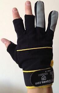 Unisex-Black-Fingerless-Gloves-Gardening-Work-Shooting-Photography-Fishing-DIY