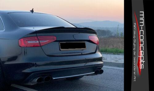 CUP Heckspoiler Ansatz für Audi A4 S4 B8 Facelift Dach Verlängerung S-Line