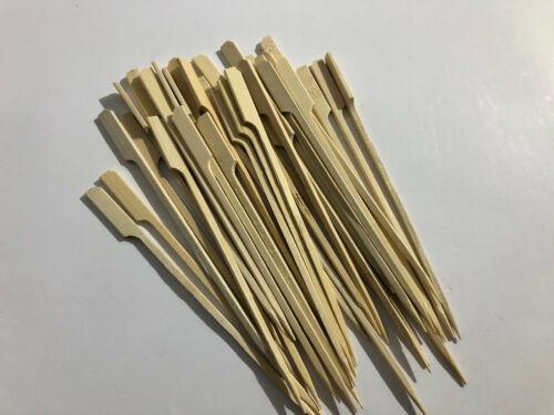 50x Bambus Hamburger Holz Spieße BBQ Sticks Schaschlikspieße Bamboo 18cm