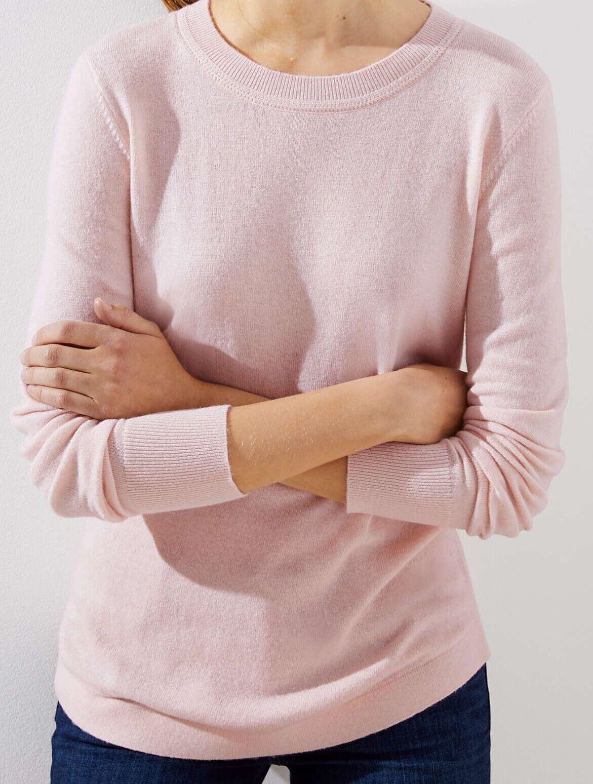 a05310bccfc Ann Taylor LOFT Shirttail Sweater Size Large, X-Large NWT Light Pink Cloud  color