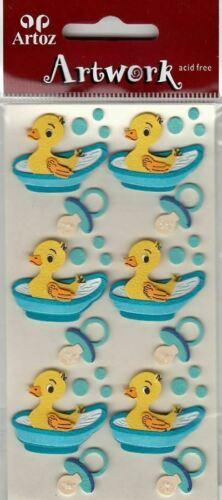 Bébé Garçon Canard en caoutchouc à Bath Craft Embellissement bébé garçon nouveau né Carte Stickers