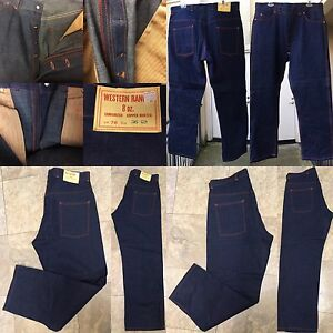 Western-Ranger-8-Oz-Sanforized-Copper-Riveted-Lot-78-Button-Fly-Jeans-NOS