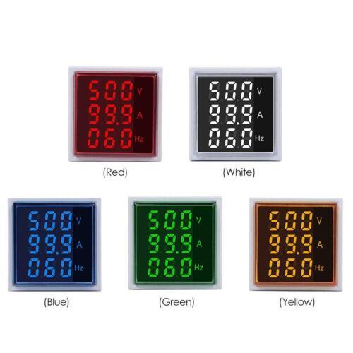 AC 60-500V 0-100A Digital Voltmeter Ammeter Dual LED Amp Volt Meter Tester