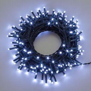 Luci-di-Natale-a-BATTERIA-300-led-con-controller-e-timer-BIANCO-FREDDO