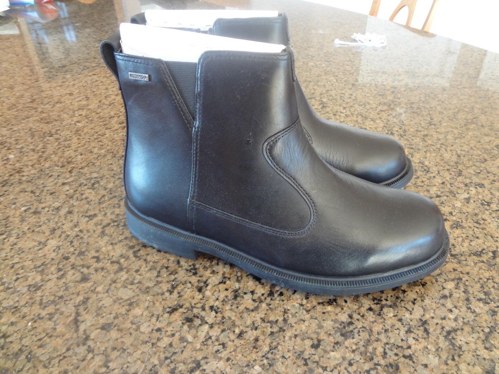 NEW Dunham Men's Size 9.4E Black James-Dun Chelsea Boots