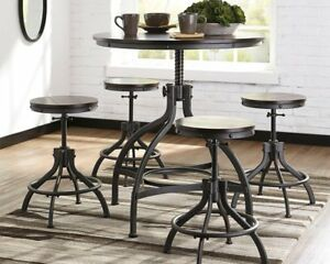 Ashley D284 223 Odium Counter Height Dining Room Table And Bar
