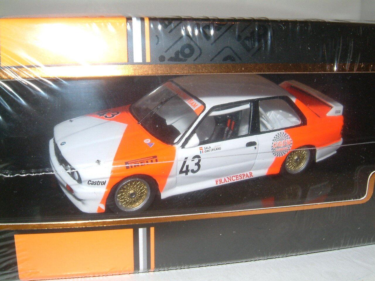 1 43 Ixo Ixo Ixo BMW M3 E30 1987 WTCC  43 Sala Grouillard 'Marlboro' Inc calcomanías  GTM127 ea6d1d