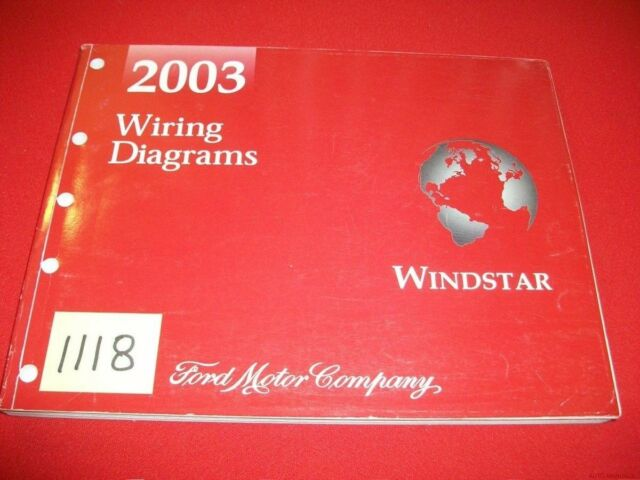 2003 03 Ford Fmc Windstar Factory Wiring Diagrams Manual