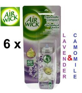 6-x-24ml-AIR-WICK-Freshmatic-Compact-Auto-SPRAY-Refills-LAVENDER-amp-CAMOMILE