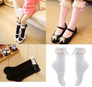 Girls-Socks-Hosiery-with-Lace-Kids-Toddler-Baby-Leg-Warmer-Cotton-Princess-Style