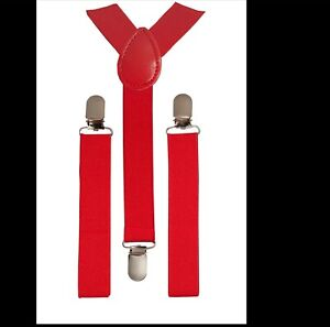 Boys Girls Kids Children suspenders Elastic adjustable Suspenders US Seller