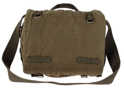 groß oliv-stonewashed Baumwolle Riemen Military Armee Tasche BW Kampftasche