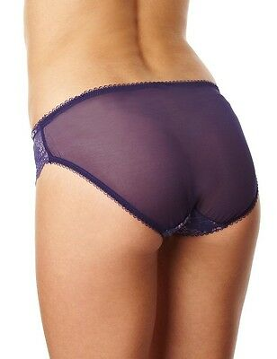 Charnos Trellis classic cut full brief in amethyst lace, size 10/Small only