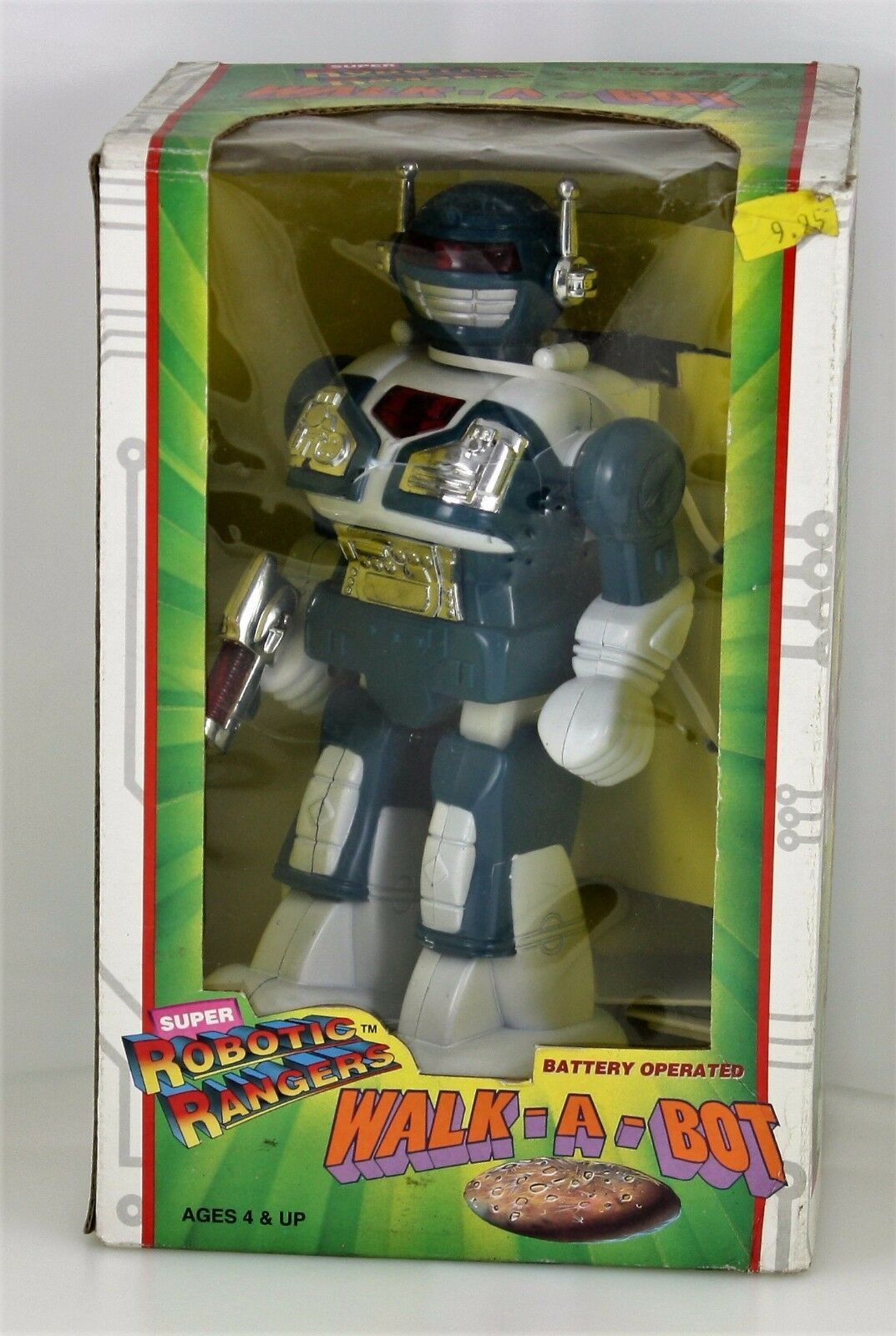 RARE SUPER ROBOTIC RANGERS WALK-A-BOT BATTERY OPERATED