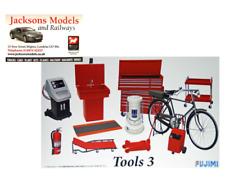 Fujimi GT27 1//24 Scale Garage /& Tool Car Props Accessories Model Kit Tools Set 3