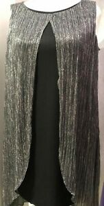 Womens-Ladies-Plus-Size-Special-Occasions-Glitter-Lurex-2-tier-Dress-Half-Price