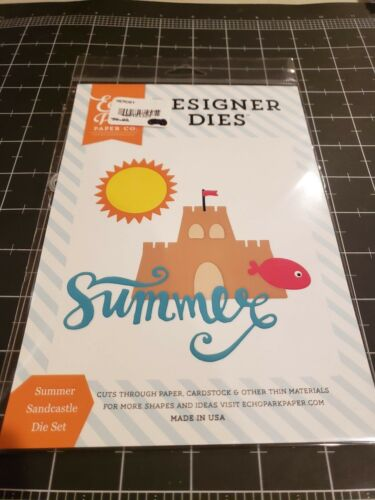 New Summer Sandcastle Echo Park paper co Designer metal die