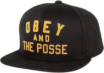 Obey Posse Black Red Snapback