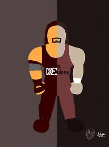 Diesel-X-Kevin-Nash-Wrestling-Alter-Ego-Art-Series-Glossy-Print-8x10-WWF-WCW-nWo