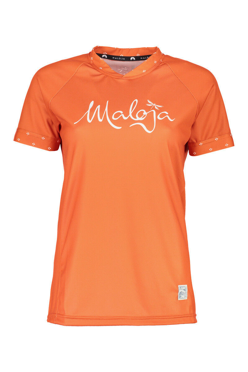 Maloja Multisportshirt Shirt SuvrettaM. Multi 1 2 orange atmungsaktiv