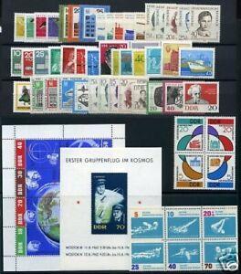 DDR-Jahrgang-1962-postfrisch-MNH-jede-MiNr-1x-mit-Block