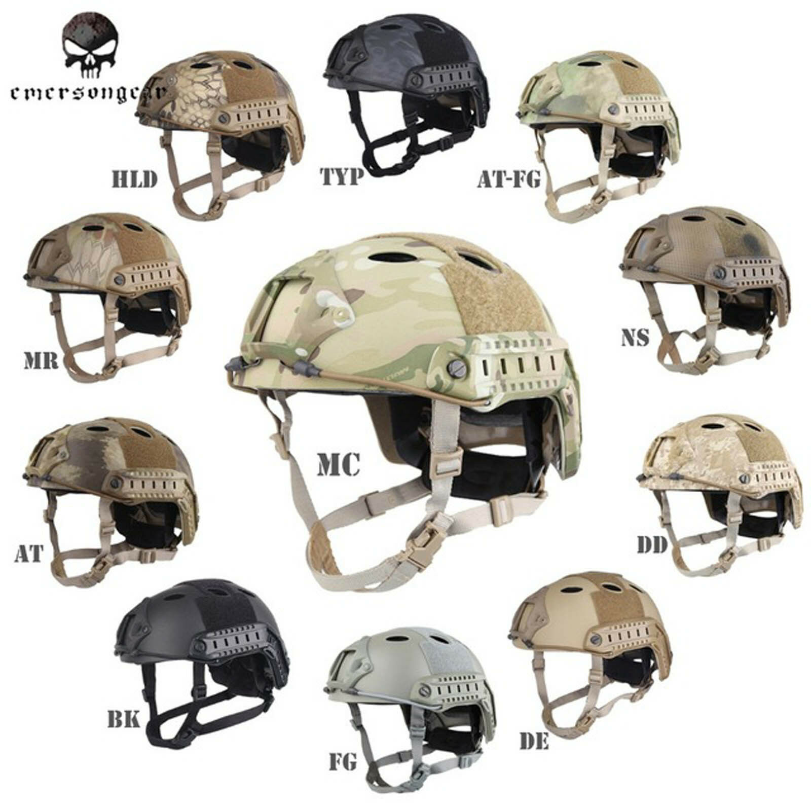 Emerson POM  FAST Helmet PJ Type Tactical Military Airsoft Helmet EM5668  the lowest price