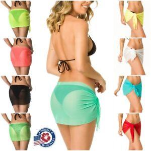 Beach Cover Up Sheer Sarong Swimsuit Wrap Sexy Swimwear Pareo Canga Coqueta Ebay