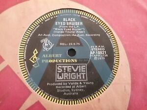 STEVIE-WRIGHT-BLACK-EYED-BRUISER-RARE-A-PROMO-45-7-034-AUSTRALIA-ALBERT-PRODUCTIONS