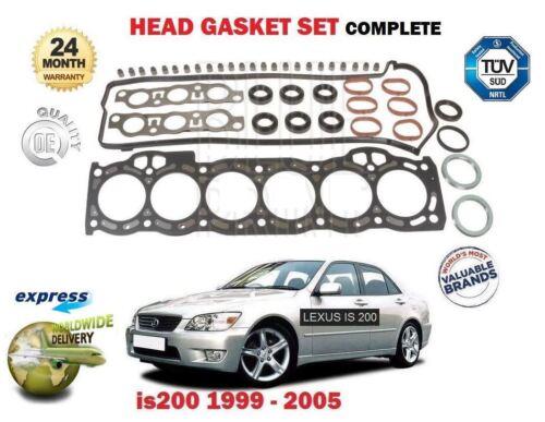 Per Lexus IS200 2.0 1//1999-12 2005 Nuovo Cilindro Testa Guarnizione Set ** Qualità OE **