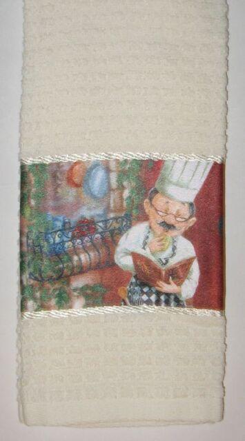 Fat Chef Cookbook Recipe Time Kitchen dish towel