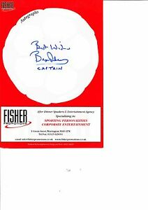 BRYAN-ROBSON-GENUINE-HAND-SIGNED-AUTOGRAPH-MENU-MANCHESTER-UNITED