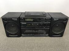 Panasonic RX-DT610 Portable Stereo Boombox Radio CD - Radio - Dual Cassette!