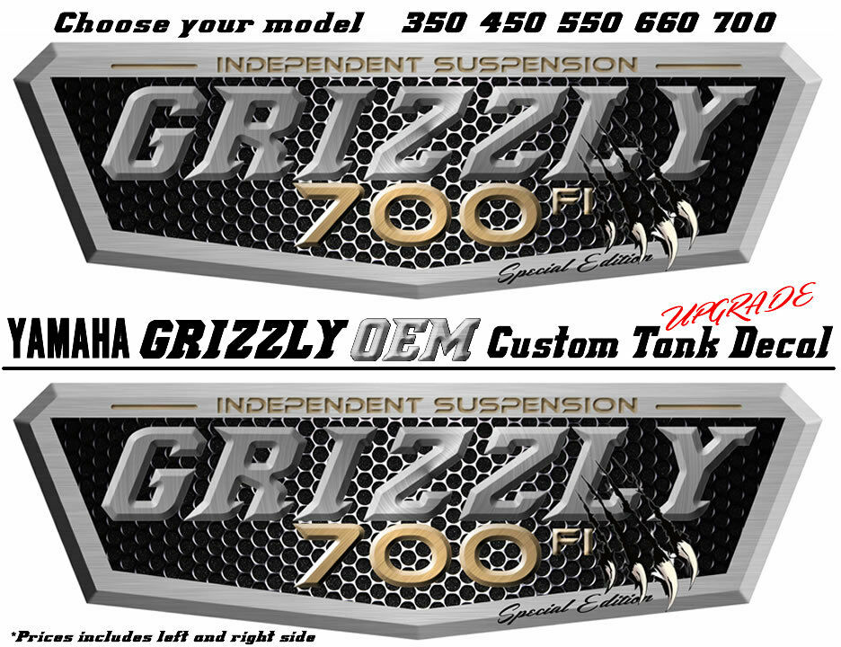 Yamaha Grizzly 700 4x4 Special Edition Blue  OEM ATV Tank Decal Sticker kit