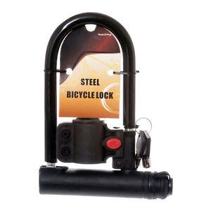 universal u lock anti theft steel bicycle cycling bike gate frame mount 21910 ebay. Black Bedroom Furniture Sets. Home Design Ideas
