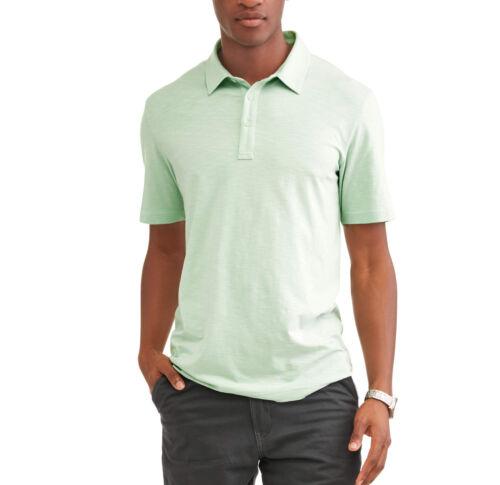 George Men/'s Luxe Slub Short Sleeve Polo